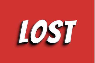 Lost - 3D Text Style Effect PSD