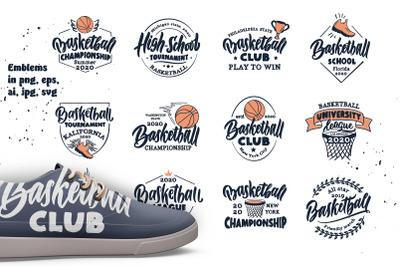 Set of emblems Basketball