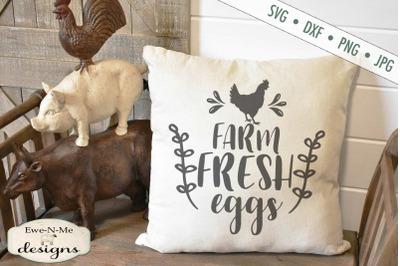 Farm Fresh Eggs Chicken SVG