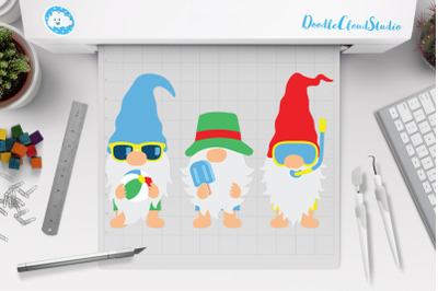 Gnomes SVG, Beach Gnome SVG, Summer Gnome Clipart.