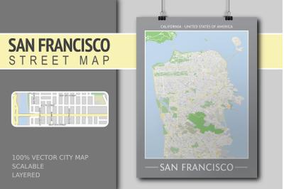 San Francisco Street Map - City Map