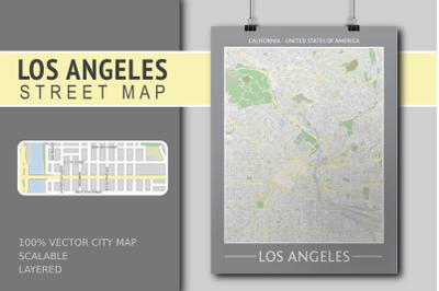 Los Angeles Street Map - City Map