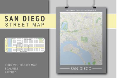 San Diego Street Map - City Map