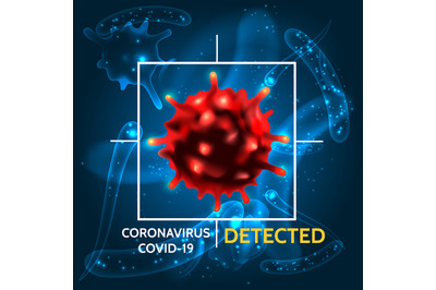 Coronavirus Covid 19 detecting illustration