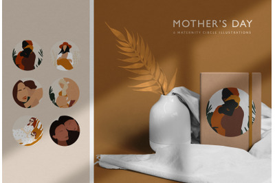Mother's Day Abstract Illustrations.