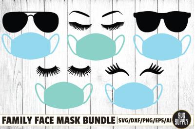 Family Face Mask Bundle SVG Cut File