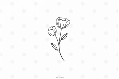 Wildflower bouqet svg cut file