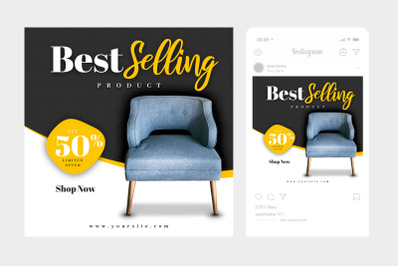 Best Selling Instagram Post Square Template 1