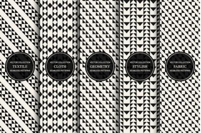 Decorative seamless geometric patterns