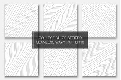 Wavy seamless striped patterns
