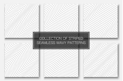 Minimal seamless wavy line patterns