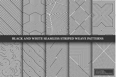 Striped seamless geometric patterns