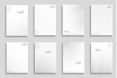 White halftone digital covers/poster