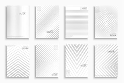 Abstract striped contemporary covers