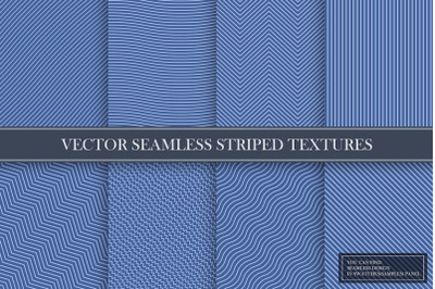 Elegant seamless striped patterns