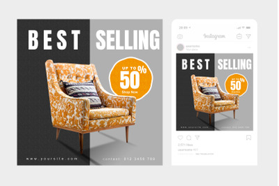 Best Selling Instagram Post Square Template 2