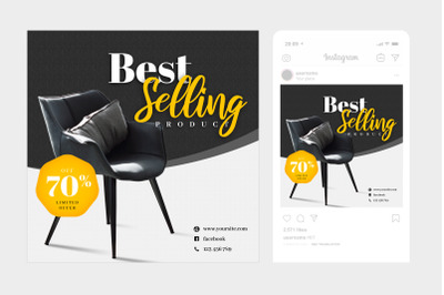 Best Selling Instagram Post Square Template 3
