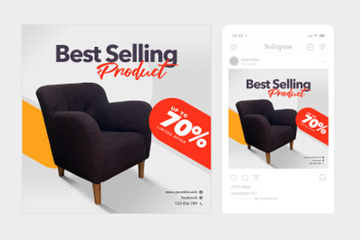 Best Selling Instagram Post Square Template 4