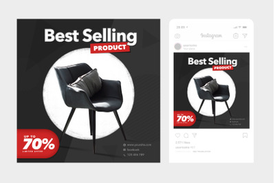 Best Selling Instagram Post Square Template 5