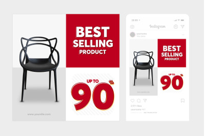 Best Selling Instagram Post Square Template 6
