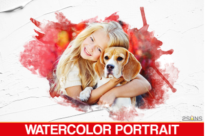 30 Watercolor Portrait Masks - Clipping Masks - Watercolor Overlays -