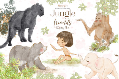 Jungle animals clip arts