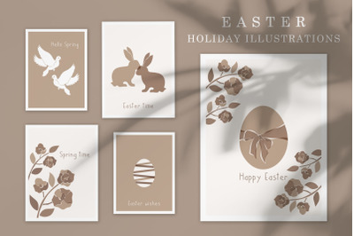 Easter Holiday Illustrations