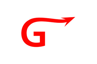 g letter arrow logo