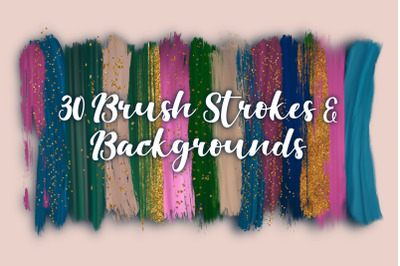 Abstract Brush Strokes with Backgrounds.