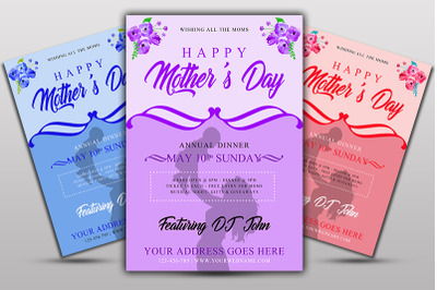 Mother day Dinner Flyer