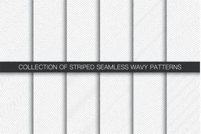 Striped seamless wavy patterns
