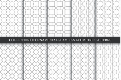 Oriental seamless geometric patterns