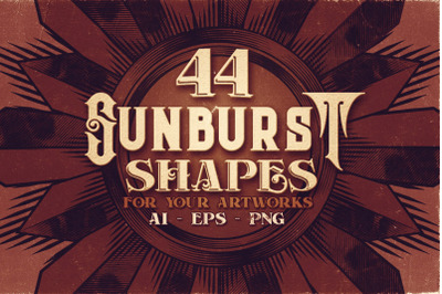 44 Sunburst Shapes