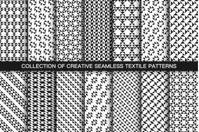 Textile seamless geometric patterns