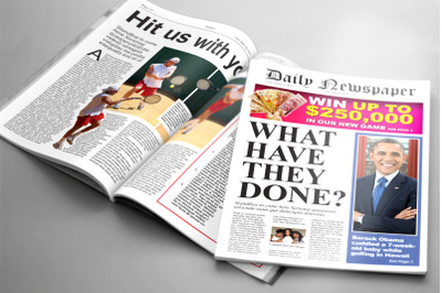 Tabloid Newspaper Template