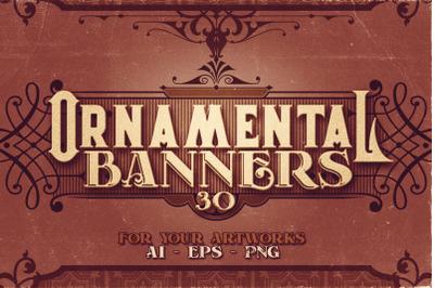 30 Vintage Ornamental Banners