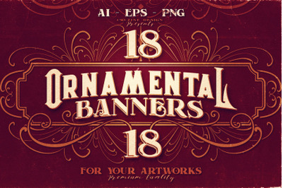 18 Ornamental Banners