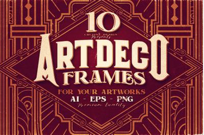 10 Artdeco Frames