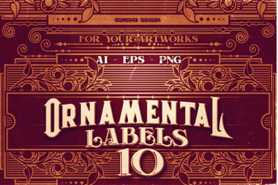 10 Ornamental Labels