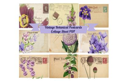 9 Vintage ATC PostCards, Ephemera Tags