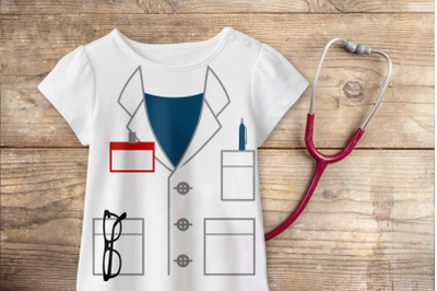 Mock Lab Coat | SVG | PNG | DXF | EPS