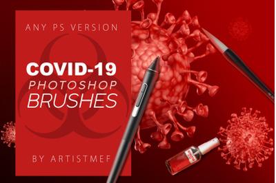 Coronavirus COVID-19 Photoshop Brushes