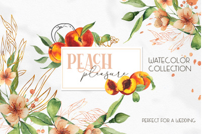 Watercolor Peach collection