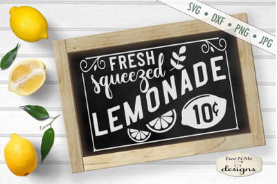 Fresh Squeezed Lemonade - SVG