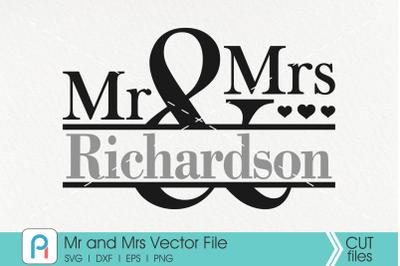Mr and Mrs Svg, Mr and Mrs Monogram Svg, Wedding Svg