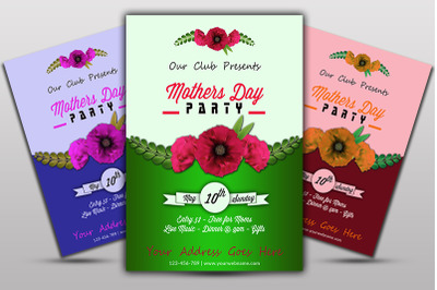 Mother Day party Flyer