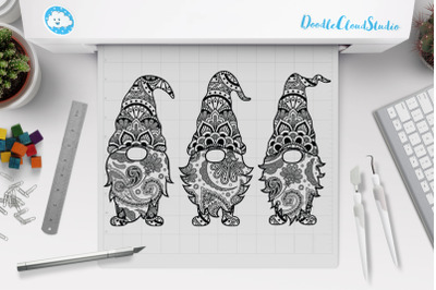 Gnome Mandala SVG Cut Files, Gnome Mandala Clipart