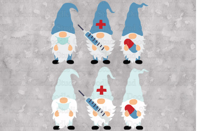 Gnomes Doctors SVG, Nurse Gnomes SVG Cut Files