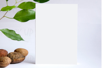 Mock up for greeting card or invitation, blank greeting card