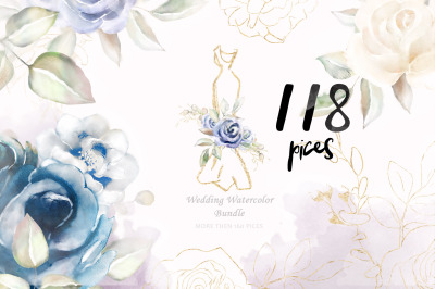 Watercolor Clipart Wedding Flowers